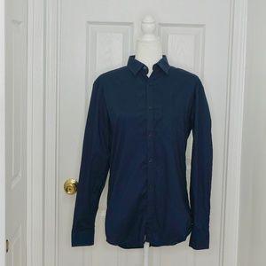 CALVIN KLEIN Navy Button Down Shirt (Size S/P)